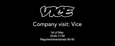 Bedrijfsbezoek: Vice