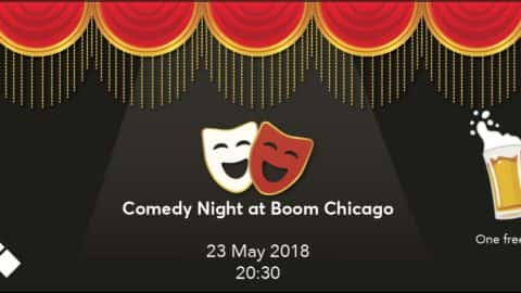 Comedy night at Boom Chicago